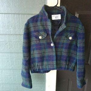 Vintage Women Jacket Coat Blazer Pure Wool